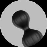 Satisfyer Beads Silicone black - анальные шарики, 20.5х3.4 см (11979-17)