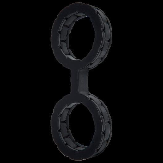 Наручники силиконовые Doc Johnson The Cuffs Large - Black (15181-29)