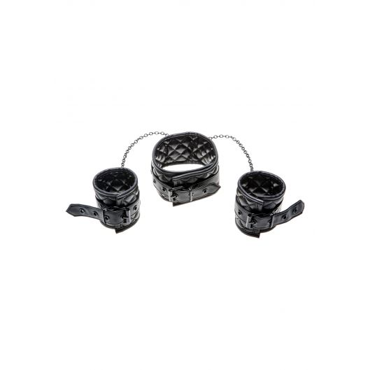 X-Play Collar & Wrist Cuffs - ошейник с наручниками (12172-17)