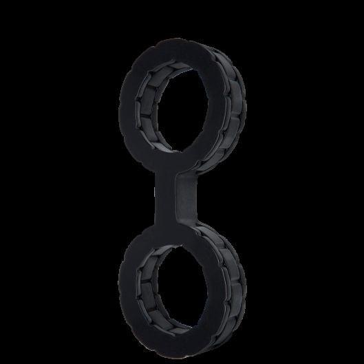 Наручники силиконовые Doc Johnson The Cuffs Small - Black (15183-29)