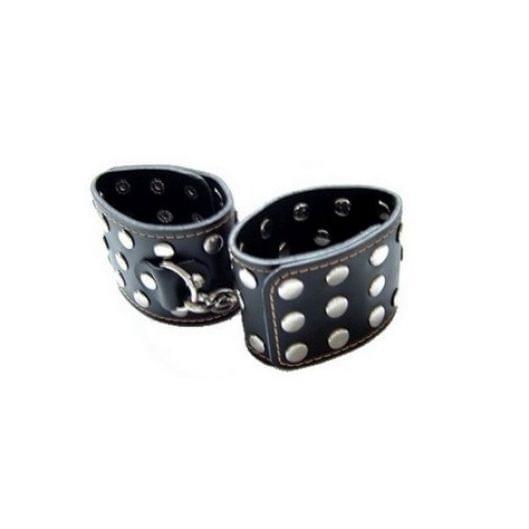 Черные наручники с заклепками (1704-17)