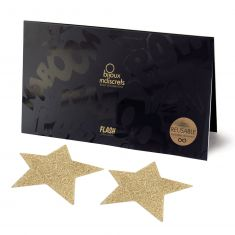 Украшение на соски Bijoux Indiscrets - Flash Star Gold