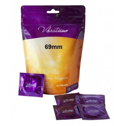 Презервативы - Vibratissimo XX...L Vanilla, 69 мм, 18 шт. (25566-37)