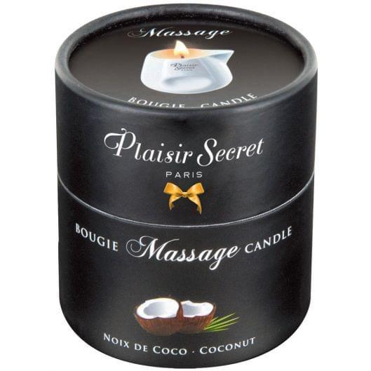 Массажная свеча - Plaisirs Secrets Massage Candle Coconut, 80 мл (26975-37)
