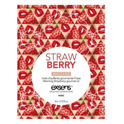 Пробник массажного масла EXSENS Strawberry 3мл (15675-29)