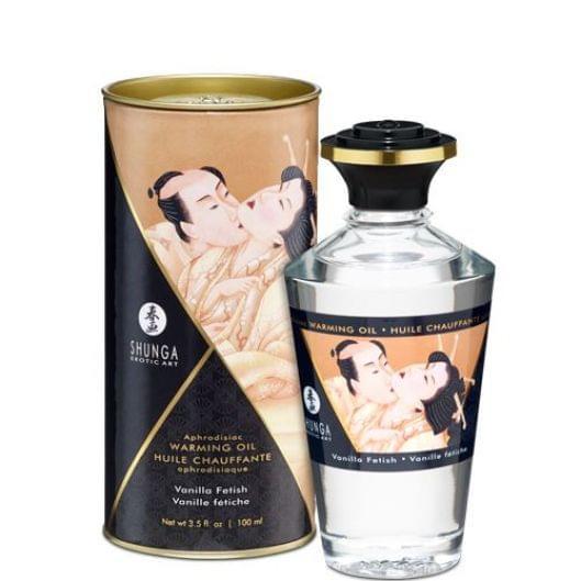 Разогревающее масло Shunga APHRODISIAC WARMING OIL - Vanilla Fetish (100 мл) (15846-29)