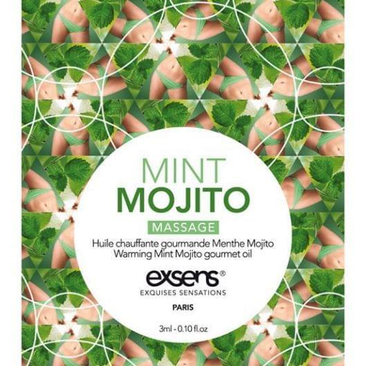 Пробник массажного масла EXSENS Mojito 3мл (15676-29)