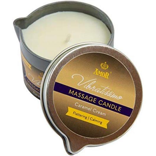Массажная свеча - Vibratissimo Caramel Cream, 50 мл (29077-37)