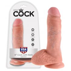 Фаллоимитатор с мошонкой - King Cock 8 inch Cock Balls Sk