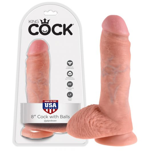 Фаллоимитатор с мошонкой - King Cock 8 inch Cock Balls Sk (23560-37)