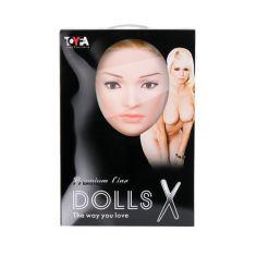 Кукла надувная Liliana с реалистичной головой, Toyfa Dolls-X, блондинка, с двумя отверстиями, кибер