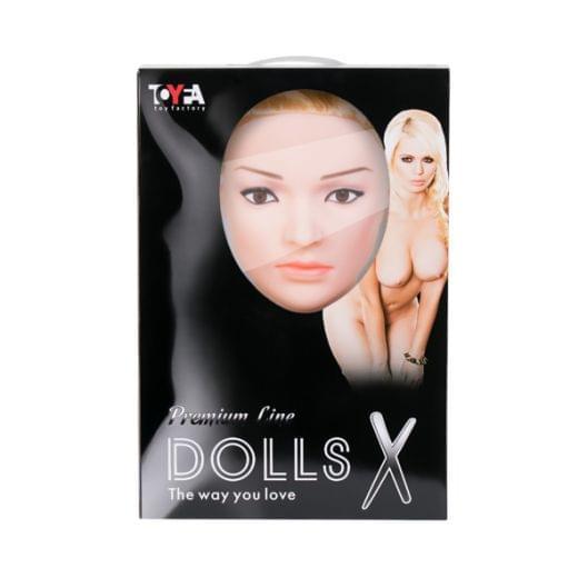 Кукла надувная Liliana с реалистичной головой, Toyfa Dolls-X, блондинка, с двумя отверстиями, кибер (27505-37)
