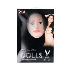 Кукла надувная Kaylee с реалистичной головой, брюнетка, Toyfa Dolls-X, кибер вставка: вагина-анус, п