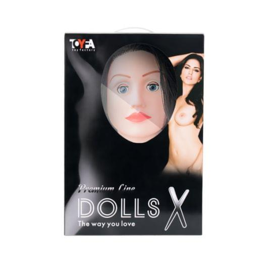 Кукла надувная Kaylee с реалистичной головой, брюнетка, Toyfa Dolls-X, кибер вставка: вагина-анус, п (27506-37)