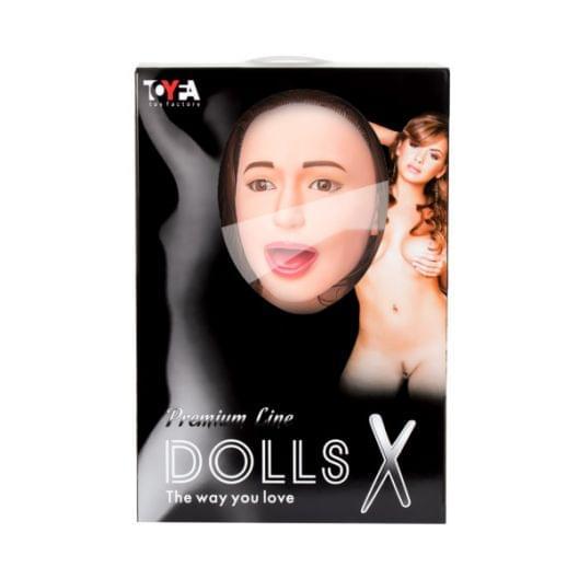 Кукла надувная Gabriella с реалистичной головой, брюнетка, Toyfa Dolls-X, с тремя отверстиями, кибер (27507-37)