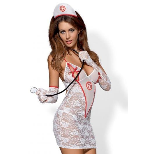 Эротический костюм Obsessive Medica dress (10502-17)