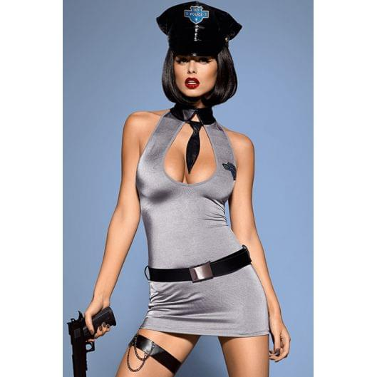 Эротический костюм Obsessive Police dress  (347-17)