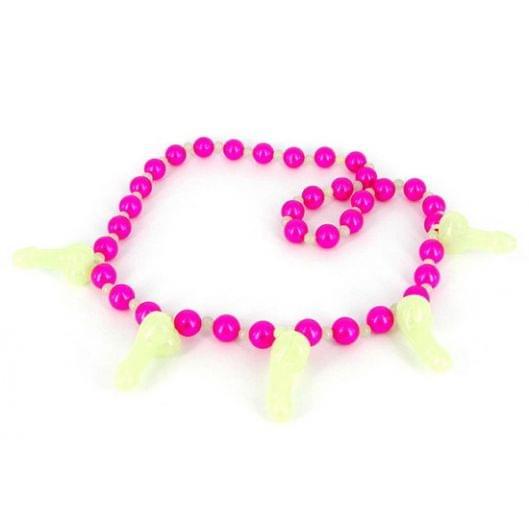 Эротическое ожерелье Glowing Pecker Necklace (9843-17)