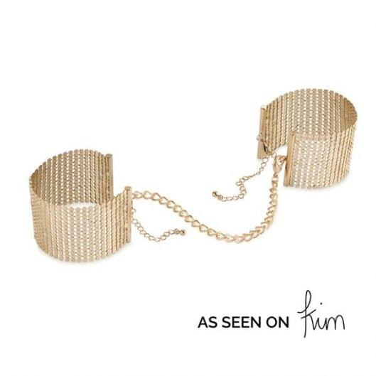 Украшение-наручники Bijoux Indiscrets Desir Metallique Handcuffs - Gold (16005-29)