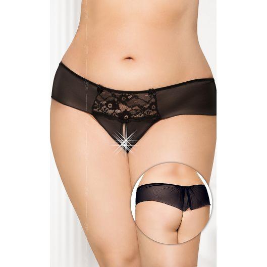 Женские стринги - G-string 2433, Plus Size, черные (18140-37)