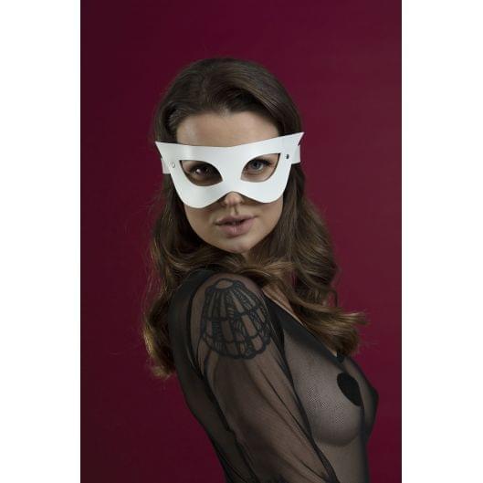 Маска на лицо Feral Feelings - Mistery Mask, натуральная кожа, белая (29651-29)