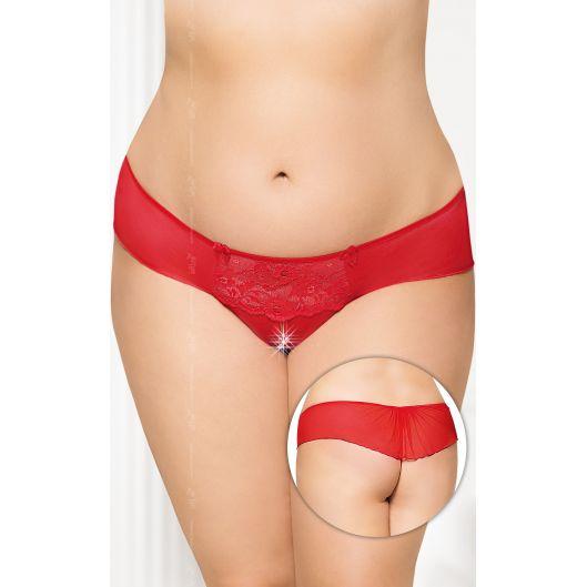 Женские стринги - G-string 2433, Plus Size, красные (18144-37)