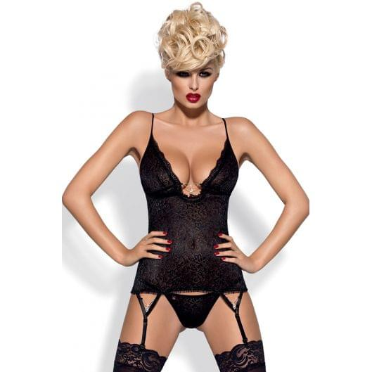 Сексуальный комплект Obsessive Diamond corset  (308-17)