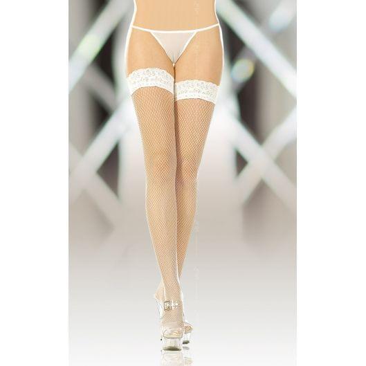 Чулки - Stockings 5517, Plus Size, white (17528-37)