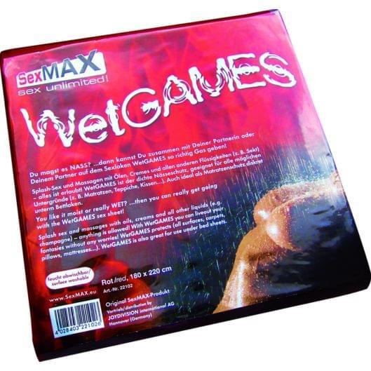 Простыня - SexMAX WetGAMES Sex-Laken, 180 x 220 см, красный (20366-37)