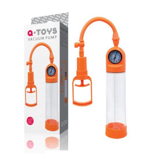 Помпа для пениса Toyfa A-Toys, силикон, прозрачный, 20 см (21325-37)