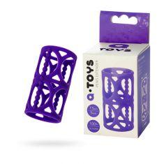 Насадка на пенис Toyfa A-Toys, силикон, фиолетовый, 7,5 см