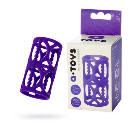 Насадка на пенис Toyfa A-Toys, силикон, фиолетовый, 7,5 см (23040-37)