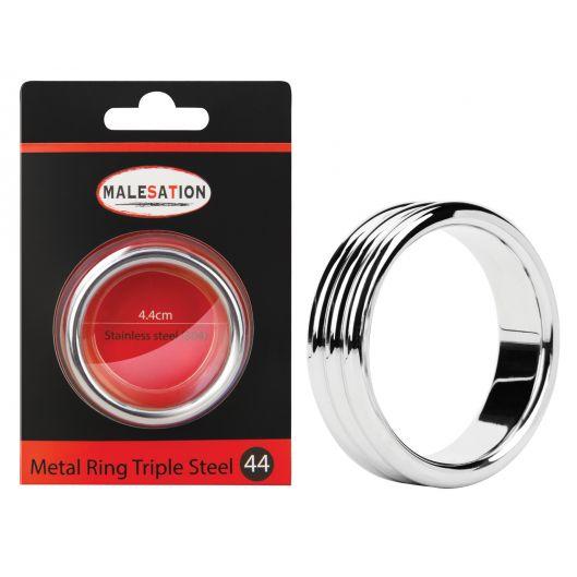 Эрекционное кольцо - MALESATION Metal Ring Triple Steel (24255-37)