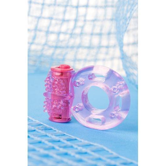 Виброкольцо Toyfa, TPE, розовый (26905-37)