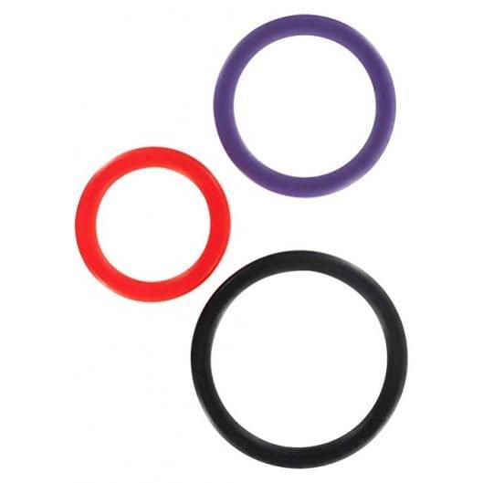 Toy Joy Triple Rings Multicolor 3Pcs эрекционные кольца (11556-17)
