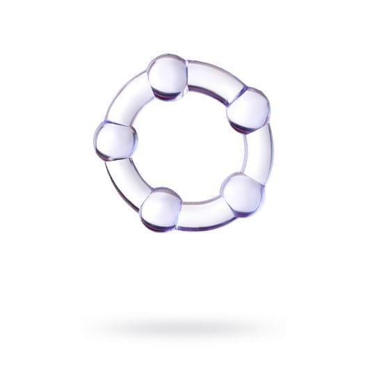 Эрекционное кольцо Toyfa A-Toys, силикон, фиолетовое (26886-37)