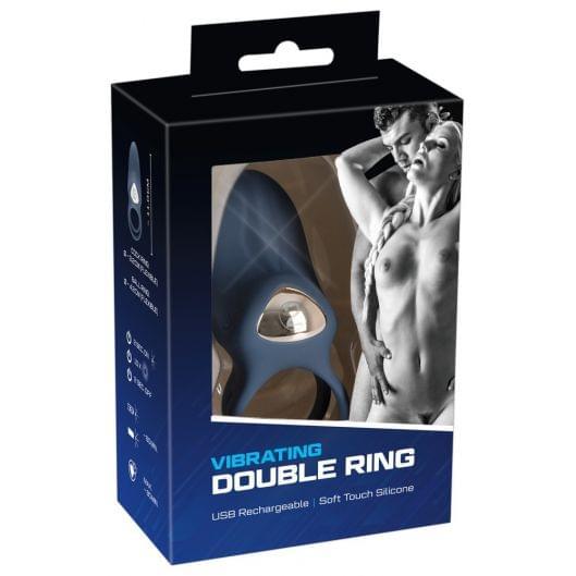 Эрекционное кольцо - Vibrating double ring (27817-37)