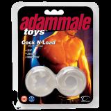 Эрекционные кольца Adam Male Toys™ Cock N Load Cock Rings, Clear (1087-17)