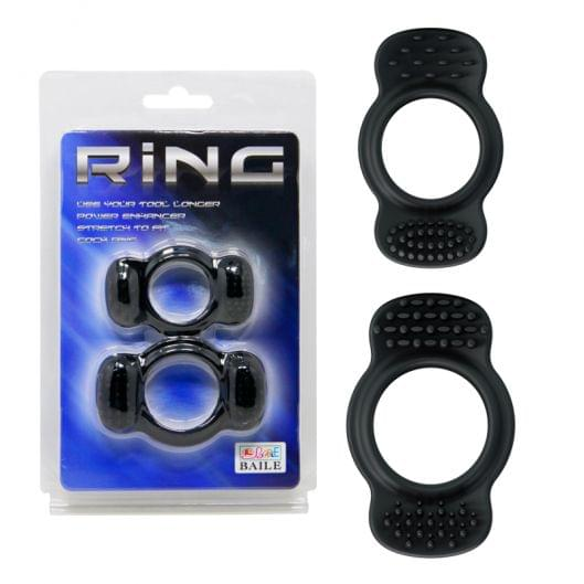Эрекционнные кольца - Ring Set Black, 2 шт. (25628-37)