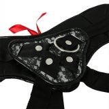 Трусы для страпона Sportsheets - Plus Grey & Black Lace Corsette Strap On (15730-29)