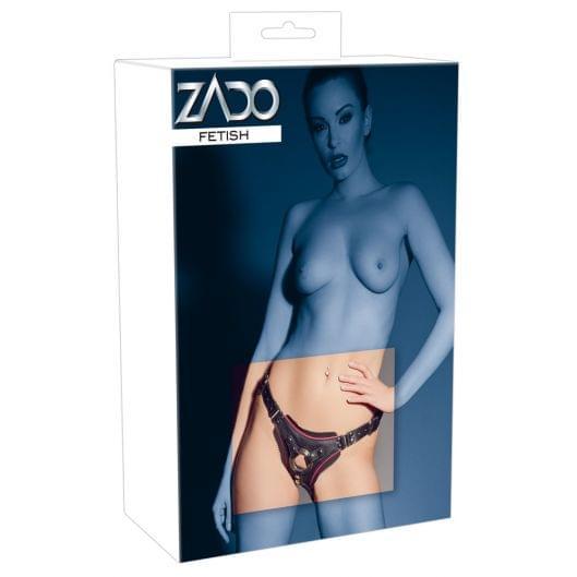 Аксессуар для страпона - 2000920 Leather String Strap-on, black, S-L (27042-37)