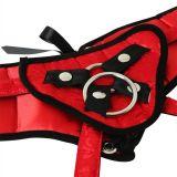 Трусы для страпона Sportsheets - Plus Red Lace w/Satin Corsette Strap On (15729-29)
