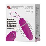 Виброяйцо - Pretty Love Debbie Remote Egg Pink (21600-37)