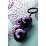 Вагинальные шарики Toyfa A-Toys, ABS пластик, фиолетовый, Ø 3,5 см (24780-37)