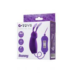 Виброяйцо с пультом управления Toyfa A-Toys Bunny, силикон, фиолетовый