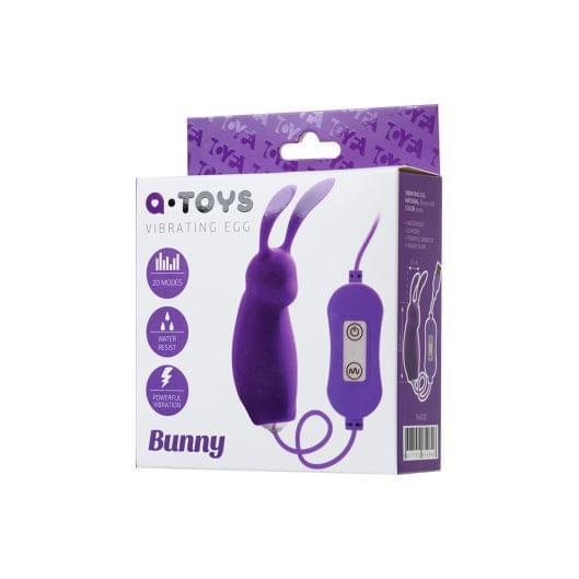 Виброяйцо с пультом управления Toyfa A-Toys Bunny, силикон, фиолетовый (26880-37)