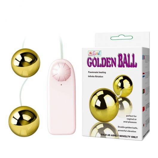 Вагинальные шарики - Golden Balls, Two Vibrators, Multispeed, 2AA Batteries (20831-37)