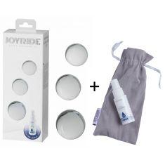 Стеклянные вагинальные шарики - JOYRIDE Premium GlassiX Set 19