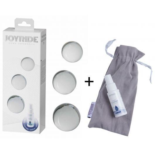 Стеклянные вагинальные шарики - JOYRIDE Premium GlassiX Set 19 (24313-37)