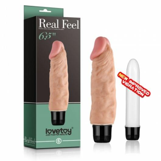 "Реалистичный вибратор - Reel Feel Vibrator Flesh 6,5"" (22661-37)"